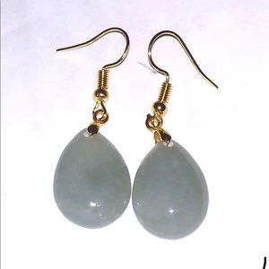 New lady's genuine type a Lucky jade earring